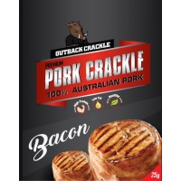 Outback Crackle Bacon Pork Crackle 12 individual bags in the box